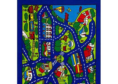 Abbey 5' X 8' Road Map Area Rug
