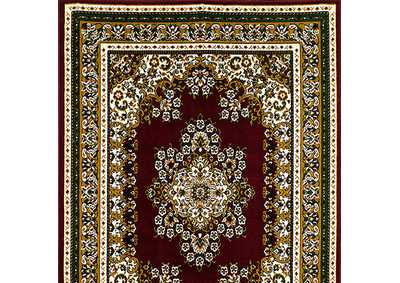 Shinta 5' X 8' Burgundy Area Rug