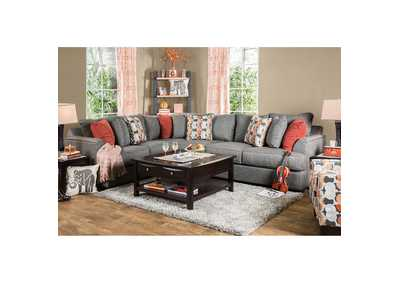 Pennington Gray Sectional w/Pillows