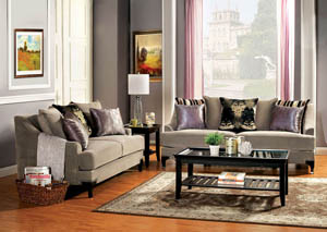 Vittoria Cocoa Brown Sofa and Loveseat