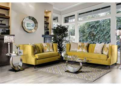 Tegan Royal Yellow Sofa