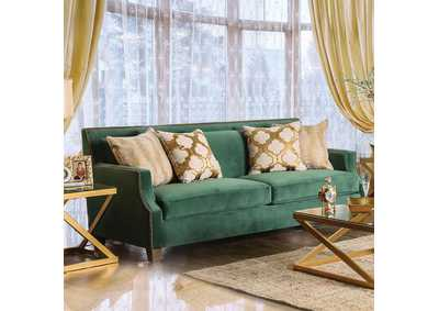 Image for Verdante Emerald Green Sofa w/Pillows