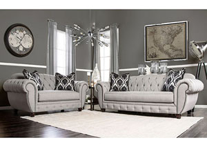 Image for Vivianna Gray Tufted Sofa and Loveseat w/Pillows