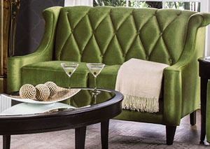 Limerick Green Diamond-Back Loveseat