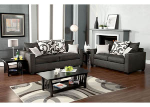 Cranbrook Charcoal Sofa and Loveseat