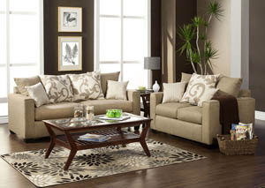 Colebrook Beige Sofa and Loveseat