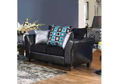 Kaelyn Black Loveseat