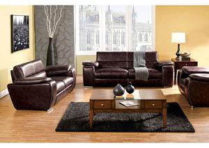 Trumbull Furniture Trumbull Kids Dinar Dark Brown Sofa And Loveseat
