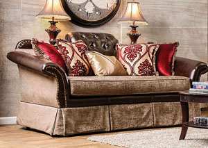 Kinsale Brown Two-Tone Loveseat