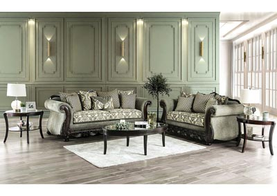 Justina Gray Sofa & Loveseat