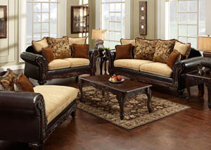 Doncaster Espresso Sofa and Loveseat