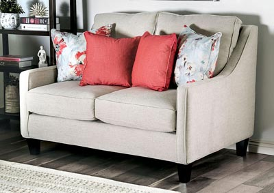 Image for Nadene Beige Loveseat