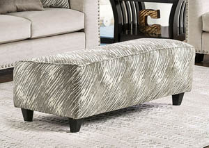 Stefano Light Mocha Pattern Ottoman