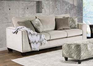 Stefano Light Mocha Sofa