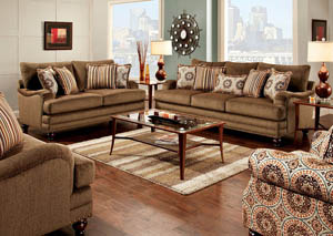 Adderley Brown Loveseat