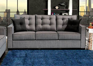 Ravel I Gray Sofa w/2 pcs Pillow