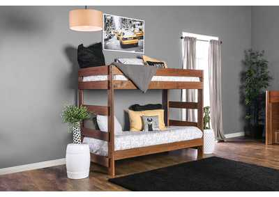 Arlette Oak Twin/Twin Bunk Bed