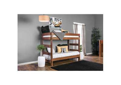 Image for Arlette Oak Twin/Twin Bunk Bed