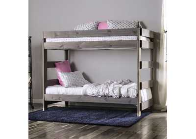Arlette Grey Twin/Twin Bunk Bed