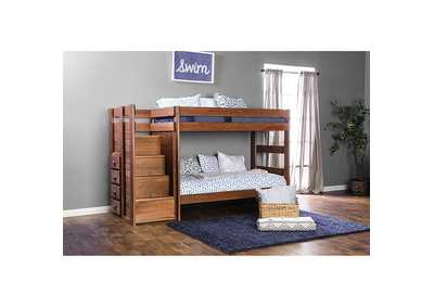 Ampelios Oak Twin/Twin Bunk Bed
