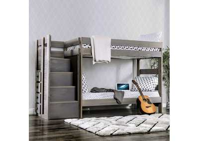 Ampelios Grey Twin/Twin Bunk Bed