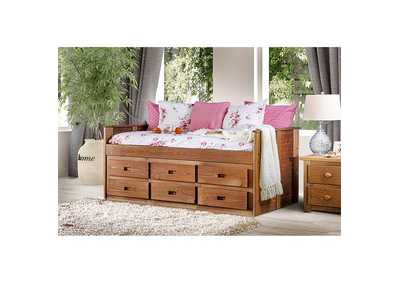 Image for Lia Oak Twin Captain Bed