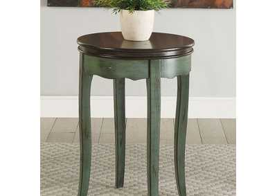 Molly Green Round Side Table
