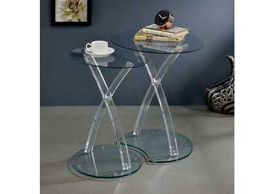 Merope Clear Nesting Table