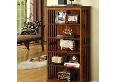 Image for Valencia l Antique Oak Media Shelf w/5 Shelves