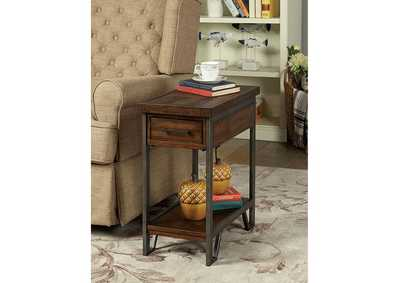 Image for Brick Attic Dark Oak Side Table w/Drawer and Open Shelf