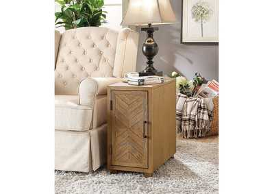 Image for Sage Light Oak Side Table w/Shelves & USB