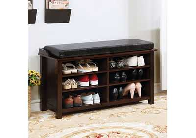 Image for Tara Brown Cherry Shoe Rack Bench