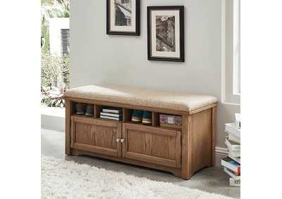 Image for Gwebdolyn Oak Shoe Bench w/Storage