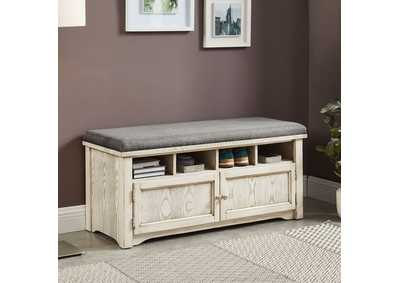 Image for Gwebdolyn Weathered White Shoe Bench w/Storage