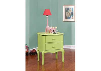 Image for Lexie Apple Green 2 Drawer Nightstand
