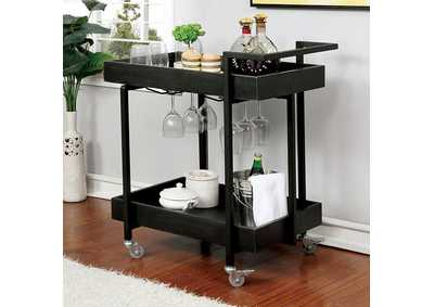 Nera Brown Serving Cart