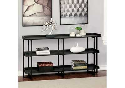 Image for Leor Black 3-Layer Shelf