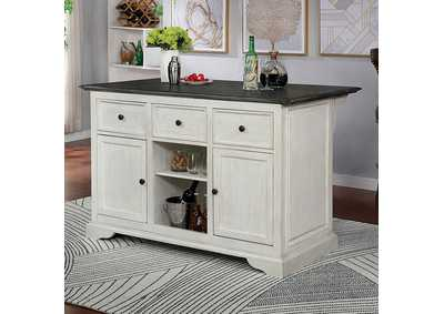 Scobey Grey Kitchen Island