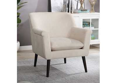 Joline White Accent Chair