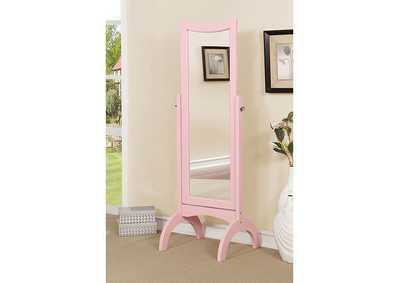 Image for Benita Pink Standing Mirror w/Full Tilt Motion