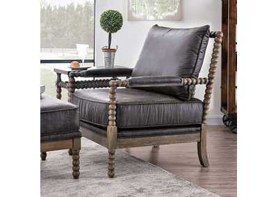 Tarragona Gray Accent Chair,Furniture of America