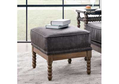 Tarragona Gray Ottoman,Furniture of America