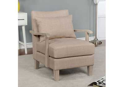 Image for Adrienne Beige Accent Chair