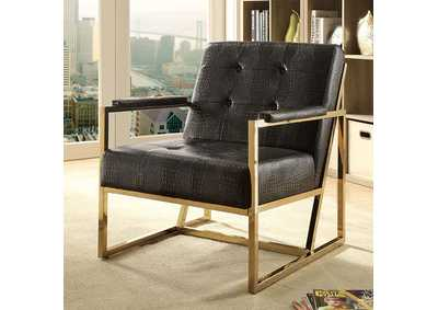 Sienna Black/Gold Metal Chair