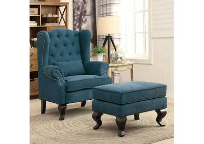 Willow Teal Ottoman
