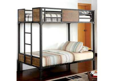 Image for Clapton Black Twin Bed w/Workstation