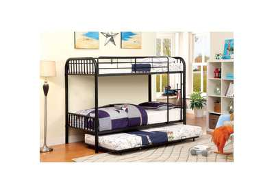 Image for Rainbow Black Twin Metal Bunk Bed
