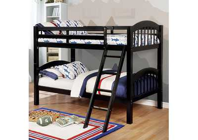 Image for Coney Island Black Twin/Twin Bunk Bed