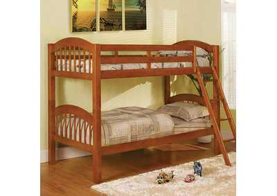 Image for Coney Island Oak Twin Bunk Bed