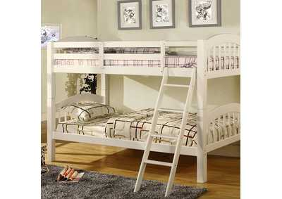 Image for Coney Island White Twin Bunk Bed